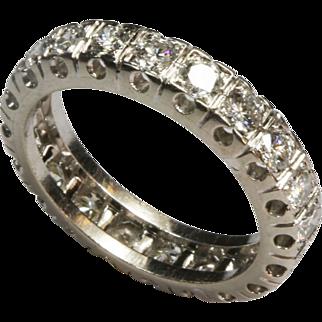 Magnificent French Diamond Platinum Eternity Ring