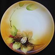 "1920s Nippon Moriyama Plate Laurel Leaves & ""M"" Mark"