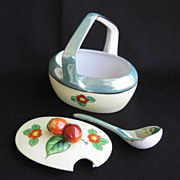 1930s Tashiro Shoten Porcelain Lusterware Condiment Dish Set