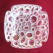 Vintage Clear Glass Bubble Ashtray