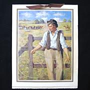 "1940 Will Rogers w. Lasso ""Beloved Philosopher"" Calendar"