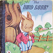 The Timid Bunny Rare 1st Edition 1946 Children's Classic