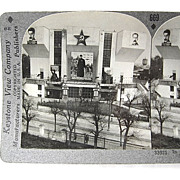 USSR Moscow New Workers Club Stereoview Stereoscopic Card