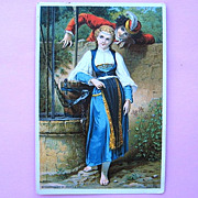 """Dr. Jayne's Elixirs """"TheTalking Well"""" Victorian Trade Card"""