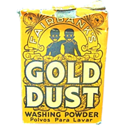 1930s Gold Dust Washing Soda Box & The Gold Dust Twins