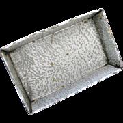Primitive Gray Enamelware Graniteware Baking Pan