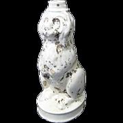 1800s Ceramic Sheepdog Figural English Bitters Bottle