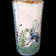 Vintage Tonala Mexico Pottery Rabbit Vase Signed MRR