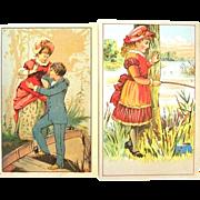 2 Victorian Trade Cards Silver Star Baking Powder