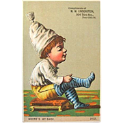 1800s New York Lindenstein Shoes Victorian Trade Card