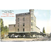 Real Photo Postcard Union Flouring Mill Union Oregon