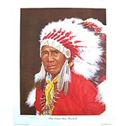 Cherokee Chief Daniel Boone Hornbuckle Signed Numbered E. Howard Burger Print