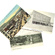 3 Real Photo Postcards Wenatchee Washington c. 1915