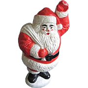 Vintage Light Up Blow Mold Waving Santa