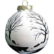 Ceramic Christmas Tree Ornament Signed by Landscape Painter Dan Boldman