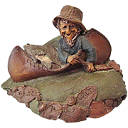 Tom Clark Walt the Fisherman Gnome Cairn Studio Retired 1985