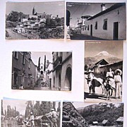 6 Vintage Mexican Real Photo Postcards Cuernavaca Popocatepetl Xochimilco Yanez RPPC