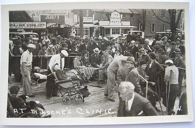 1930s RPPC Real Photo Postcard Dr. Locke at His Clinic