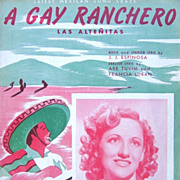 1936 Gay Ranchero Sheet Music Connie Boswell