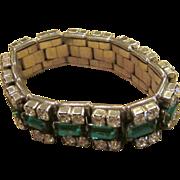 Unique  Vintage Expandable Rhinestone Bracelet