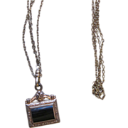 Victorian Muff or Watch Chain with Fob