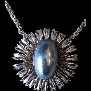 Nettie Rosenstein- signed sterling super rare necklace