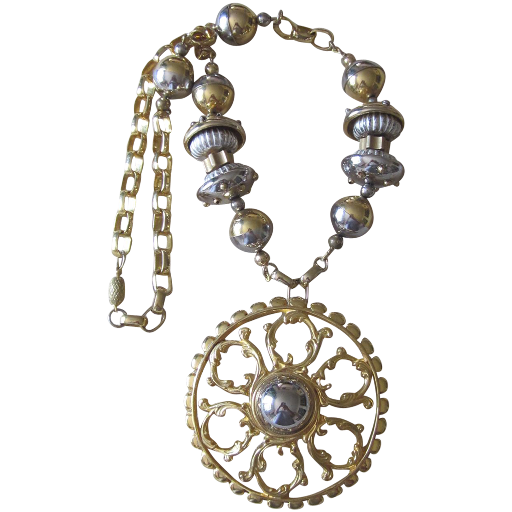 LUCIEN PICCARD - Magnificent Runway Necklace- Rare Design