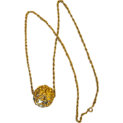Vintage Gold Tone Elegant Pendant