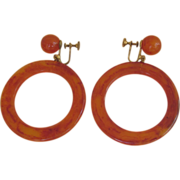 Huge Bakelite Hoop Earrings
