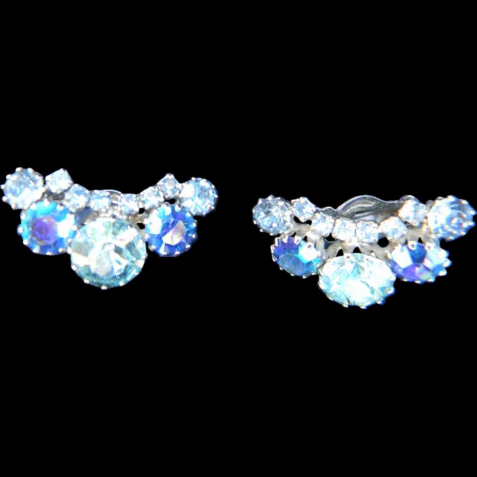 Signed WEISS vintage earrings