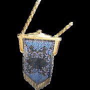 Mandalian Vintage Flapper Beaded Handbag