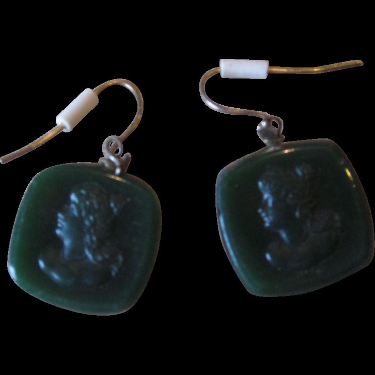 Victorian Intaglio Wire earrings