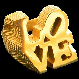 Iconic Robert Indiana LOVE ring