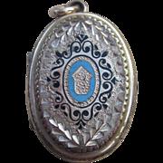 Stunning Victorian Locket with Enamel