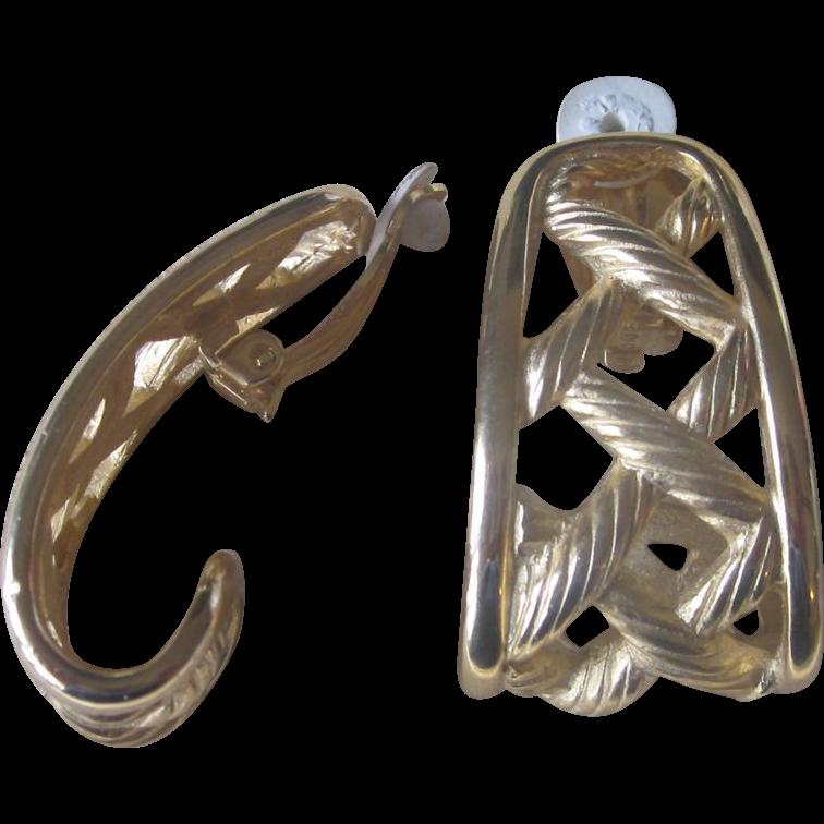 Erwin Pearl  Large Vintage Runway Earrings