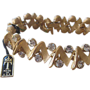 Trifari- Original Tag on Rhinestone Bracelet