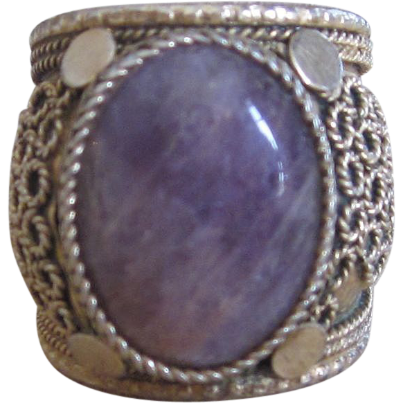 Sterling filigree vintage ring from Israel