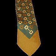 Gucci- Vintage Men's Tie Horse Bit Pattern