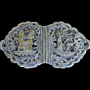 English Hallmarked Egyptian Ornate Antique Belt Buckle