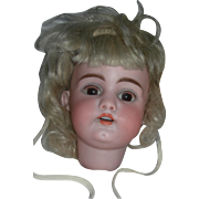 A Pretty #1079 Head with Wig and Bonnet