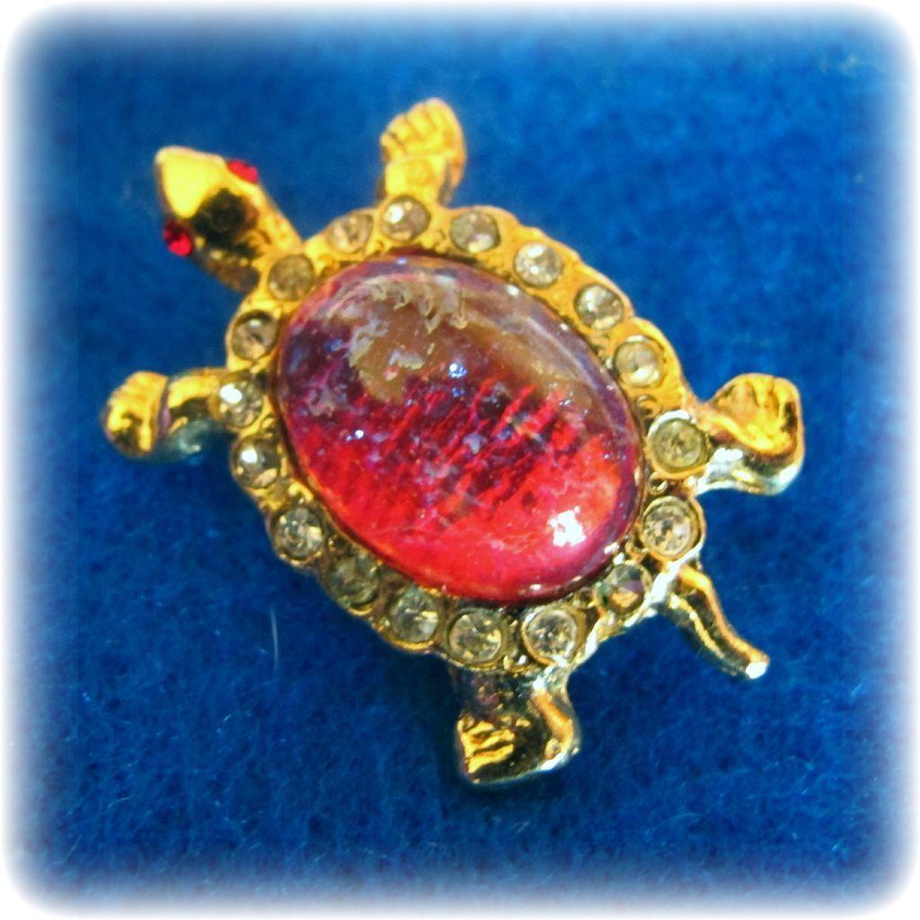 Vintage Dragon's Breath Turtle Pin