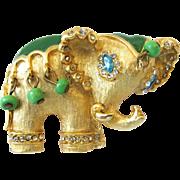Hattie Carnegie Elephant Pin