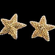 Richard Kerr Gold Rhinestone Clip Earrings