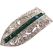 Kenneth Lane Art Deco Style Dress Clip