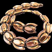 Renoir Copper Tulip Choker Necklace