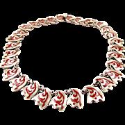 Los Castillo Esmalte A Feugo Sterling Silver Necklace
