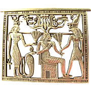 MFA Egyptian Pharaoh Scene Brooch