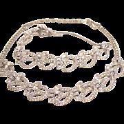 Pennino Clear Rhinestone Necklace and Bracelet Set