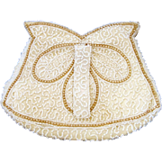 Vintage White Beaded Dancing Clutch Purse