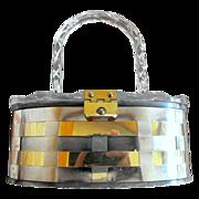 Lucite and Metal Weave Purse / Handbag